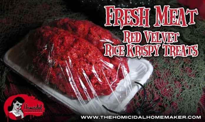 Fresh Meat Red Velvet Rice Krispy Treats