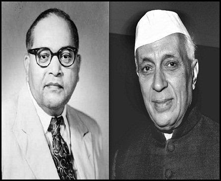 Image result for nehru ambedkar