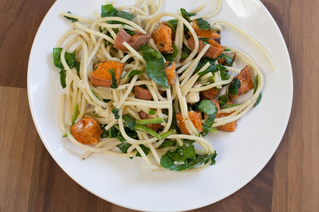 Sweet Potato Spinach Pasta