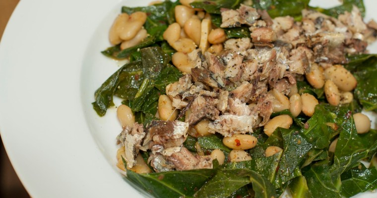 Beans and Greens with Sardines