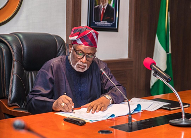Akeredolu inspects ongoing construction of Ifon General Hospital