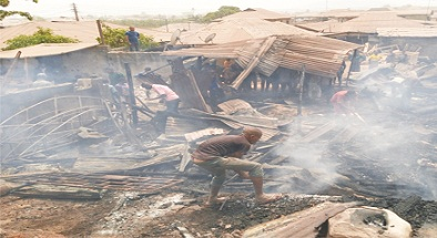Fire destroys goods worth millions of Naira in Akure market
