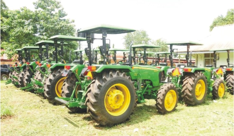 Food security: ODSG distributes tractors, loans to farmers