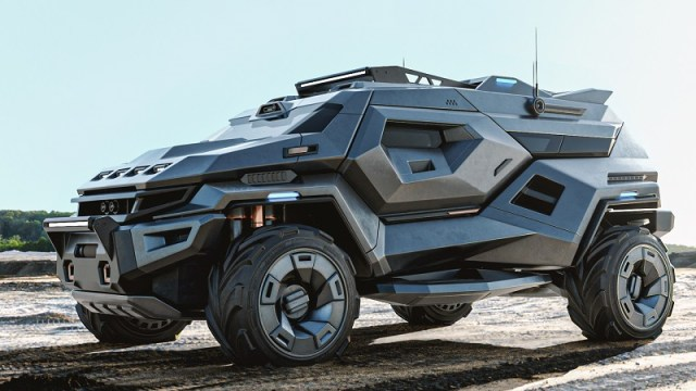 A Post-Apocalyptic Urban Escape ARMORTRUCK for the future