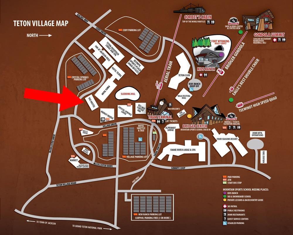 medium resolution of map of teton village