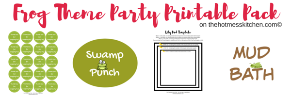 Frog Theme Party Printable Pack image