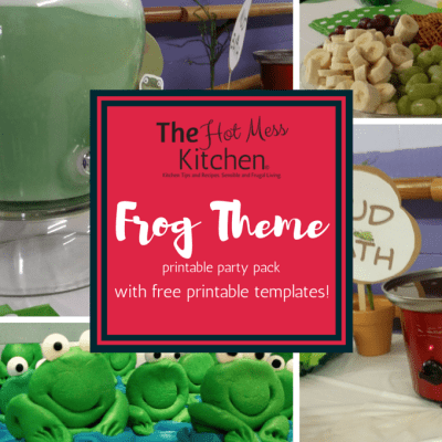 Frog Theme Party Printable Pack