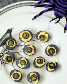 Deviled Purple Potatoes - The Ghoulish Gourmet