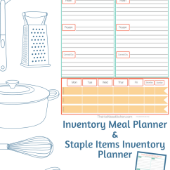 Kitchen Inventory Mid Century Chairs Printable Meal Planner The Hot Mess
