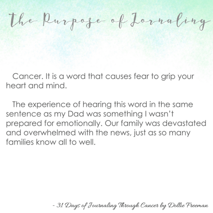 31 Days of Journaling Through Cancer - 1