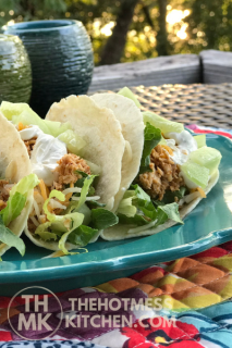 Lime Vitality Sour Cream Chicken Tacos