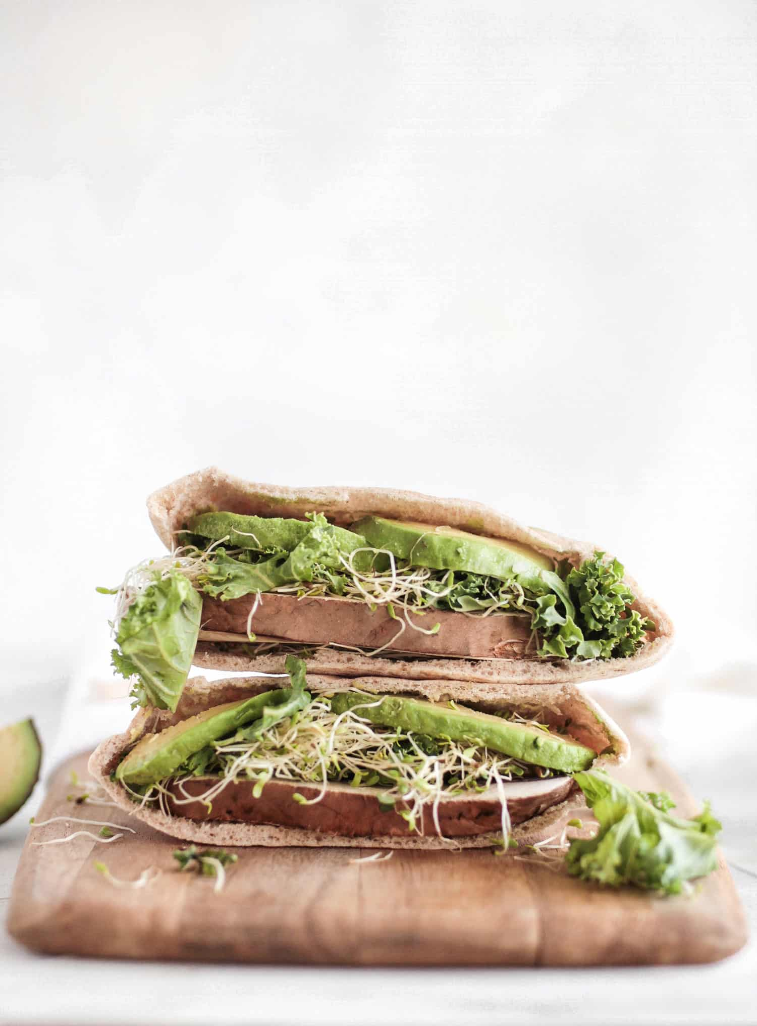Sprout and Avocado Pita Sandwich