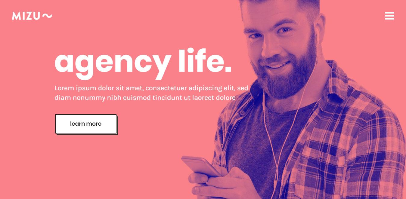 Agency web design inspiration