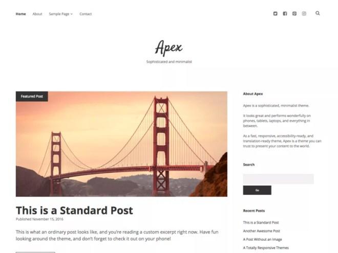 elegant wordpress blog themes