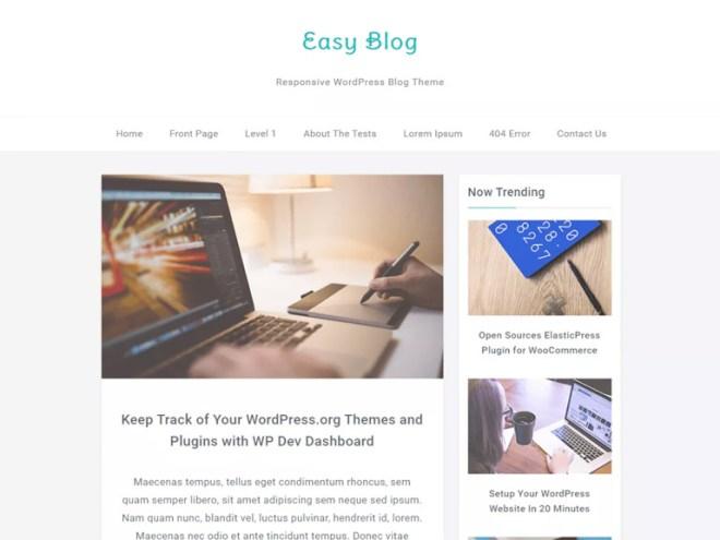 blog wordpress themes simple