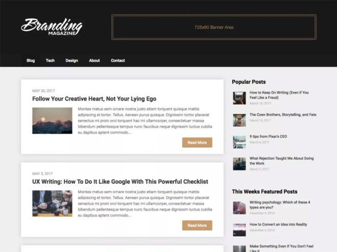 blog magazine wordpress themes free