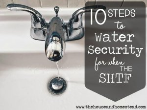 10 Steps to Water Security for when the SHTF