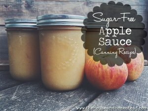 Sugar-Free Applesauce (Canning Recipe)