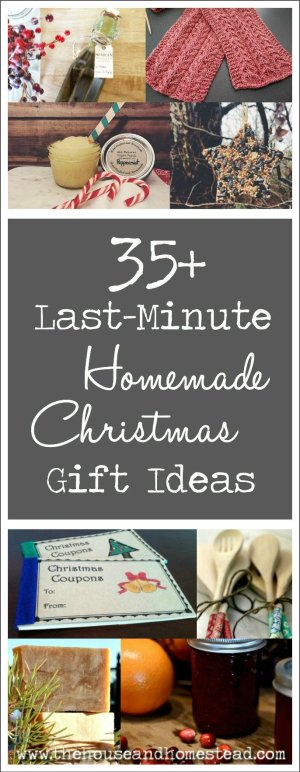 There are just days (or maybe hours) left until Christmas and you still need gifts for people! Not to worry: These 35+ homemade gifts can be made in no time with ingredients and materials that you either have at home already or can buy from somewhere that isn't a crowded mall! Great last-minute Christmas gifts for everyone on your list!