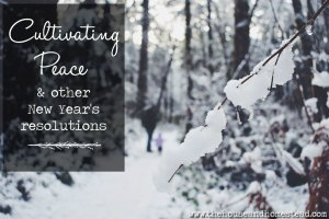 Cultivating Peace (& other New Year's resolutions)