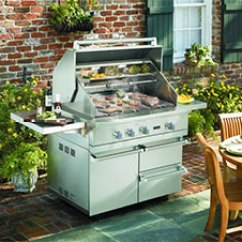 Viking Outdoor Kitchen Free Standing Kitchens Get Grilling With A The House Designers Professional 5 Series Grill