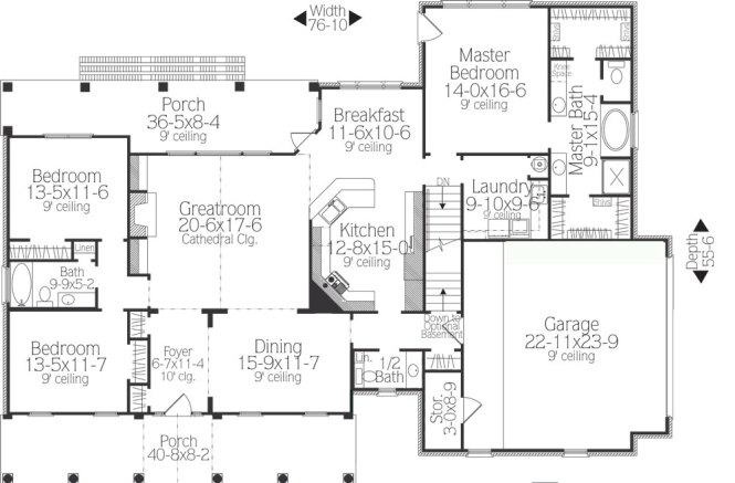 Swell Ranch Floor Plans With Split Bedrooms Bedroom Style Ideas Largest Home Design Picture Inspirations Pitcheantrous