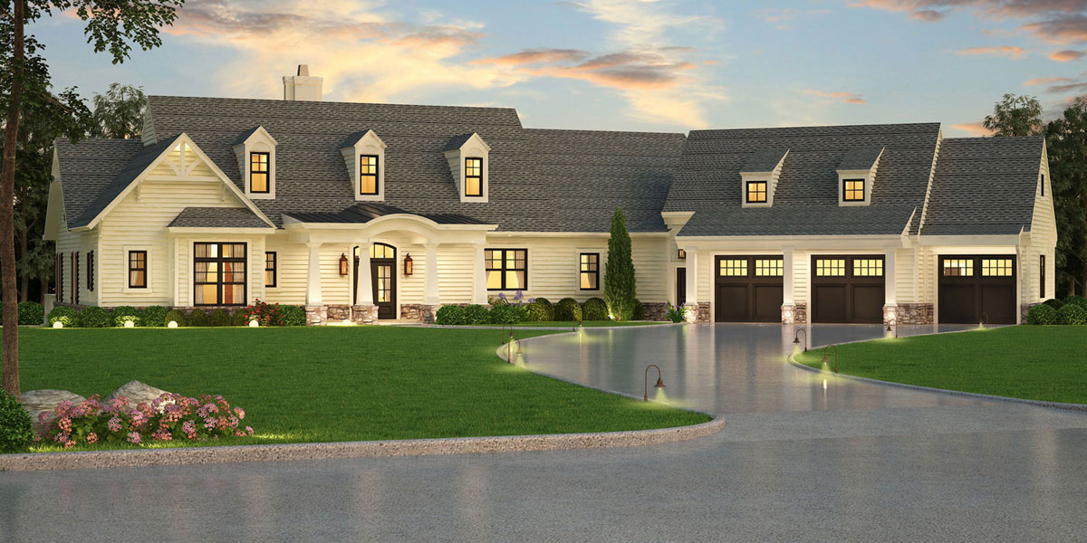 craftsman house plan with inlaw suite