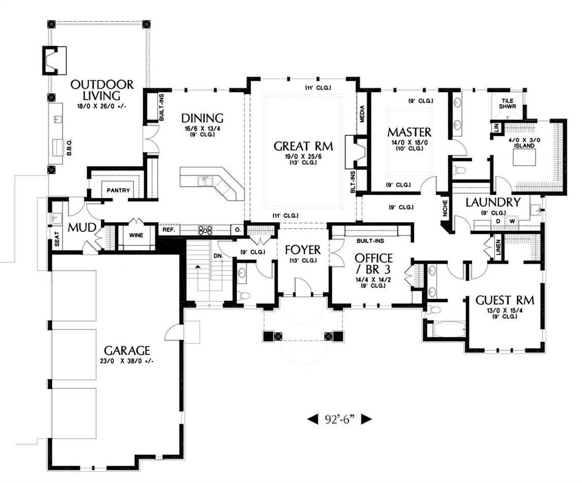 European Style House Plan 1920: Hassell