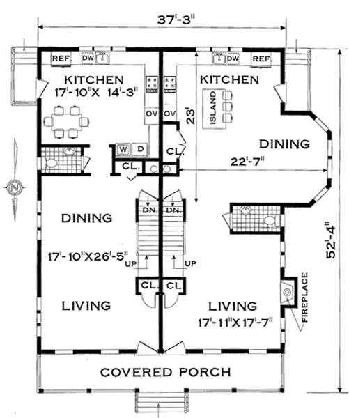 Three bedroom duplex home design