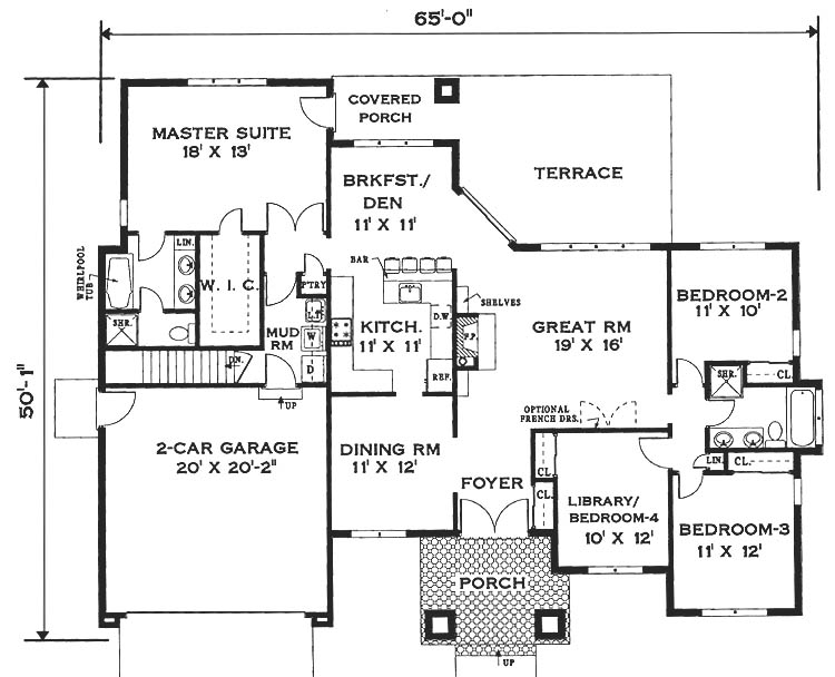 Elegant One Story Home 6994 4 Bedrooms And 2 5 Baths The House