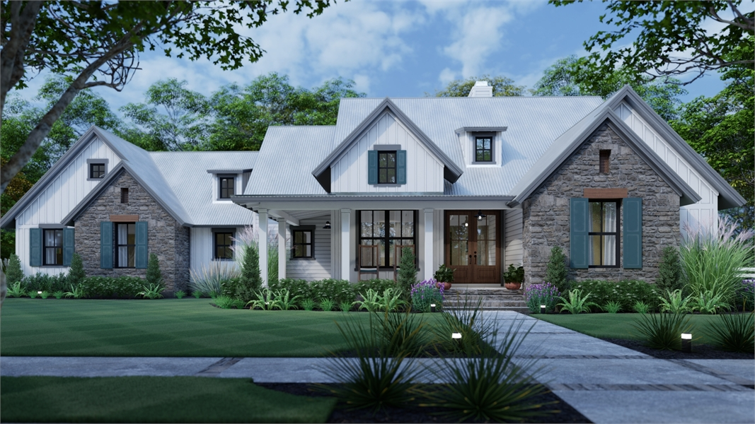 Beautiful 3 Bedroom Farm House Style House Plan 7844 Mill Creek Farm