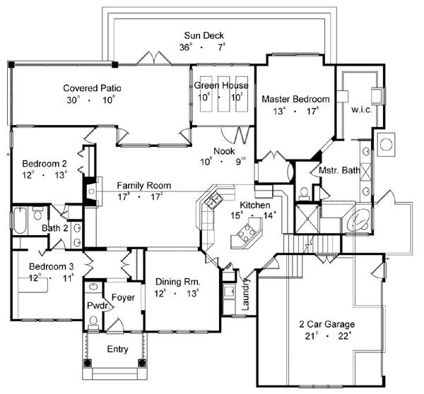 country one-story house plan