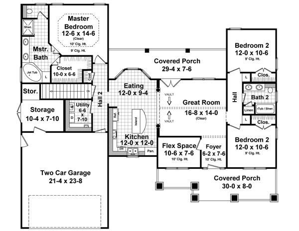 Cottage Style House Plan 5291: Westwood Park