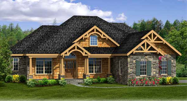 Craftsman House Plan With Walk Out Basement