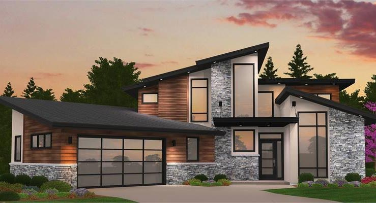 Modern House Plans Amp Small Contemporary Style Home Blueprints