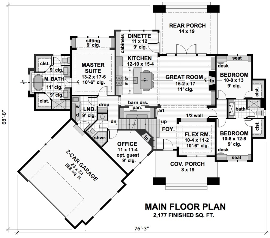 threebedroom cottage house plan