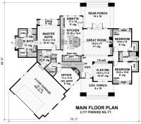 three-bedroom cottage house plan