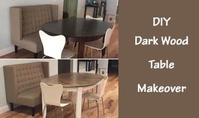DIY Dark Wood Table Makeover