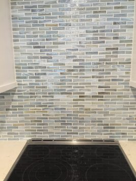 Up close look at backsplash