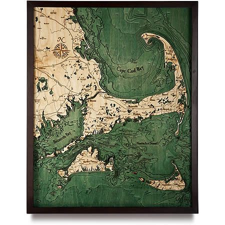 3D map of Cape Cod