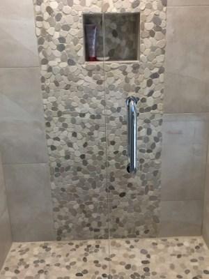 Guest Bathroom, River Rock