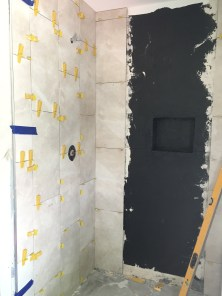 Guest Bathroom Tile Progress