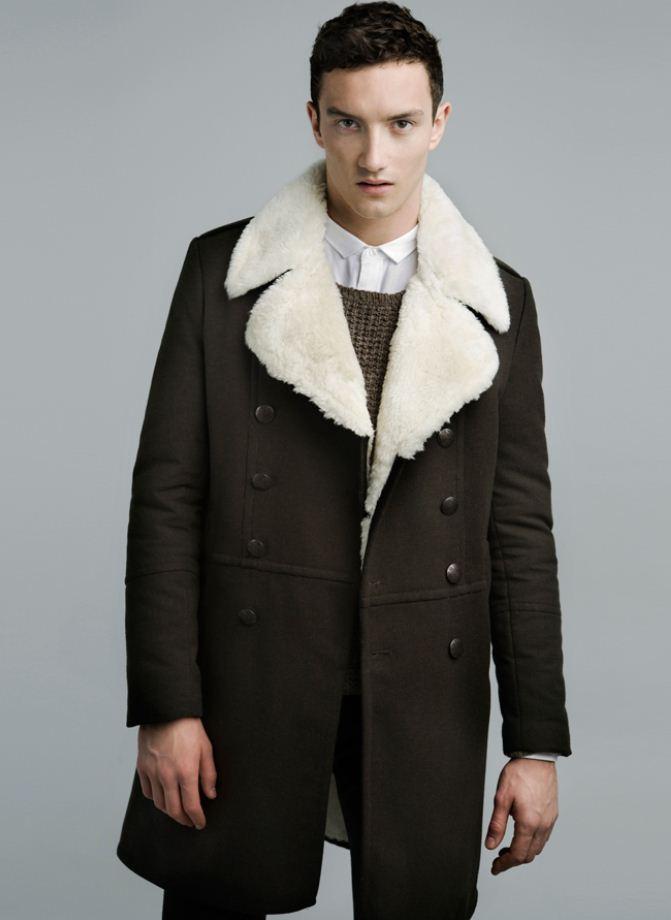 Cappotto con collo in pelliccia Zara uomo  The house of blog