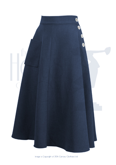1940s Style Whirlaway Swing Dance Skirt in Navy Blue