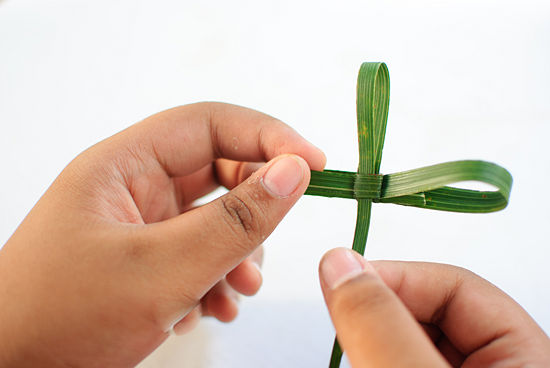 Easter Palm Frond Cross