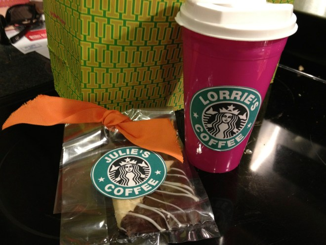 Print mock starbucks labels for a quick teacher treat