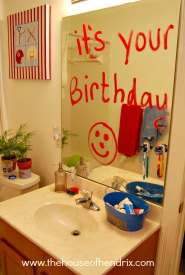 The energy i used to spend on big birthday parties is now for Room decor ideas for husband birthday