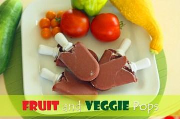 Fruit and Veggie Pops