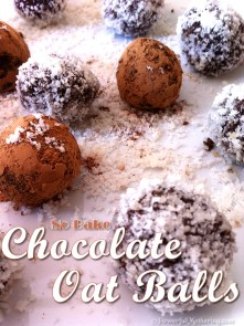 Raw No-Bake Chocolate Oat Balls from Powerful Mothering