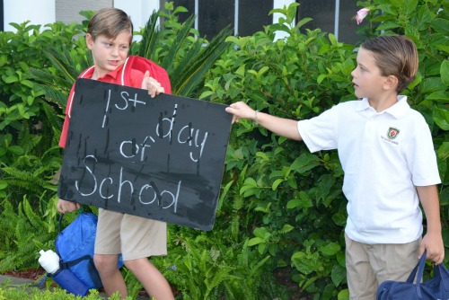 The not-so-perfect 1st day of school [the House of Hendrix}